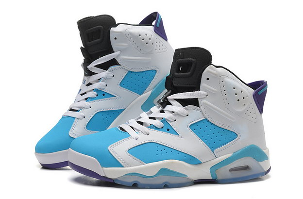 Air Jordan 6 Retro Shoes White/blue